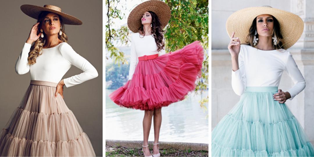 faldas de tul, vestidos de tul, tul para invitadas, invitadas perfectas, vestidos originales, vestidos exclusivos
