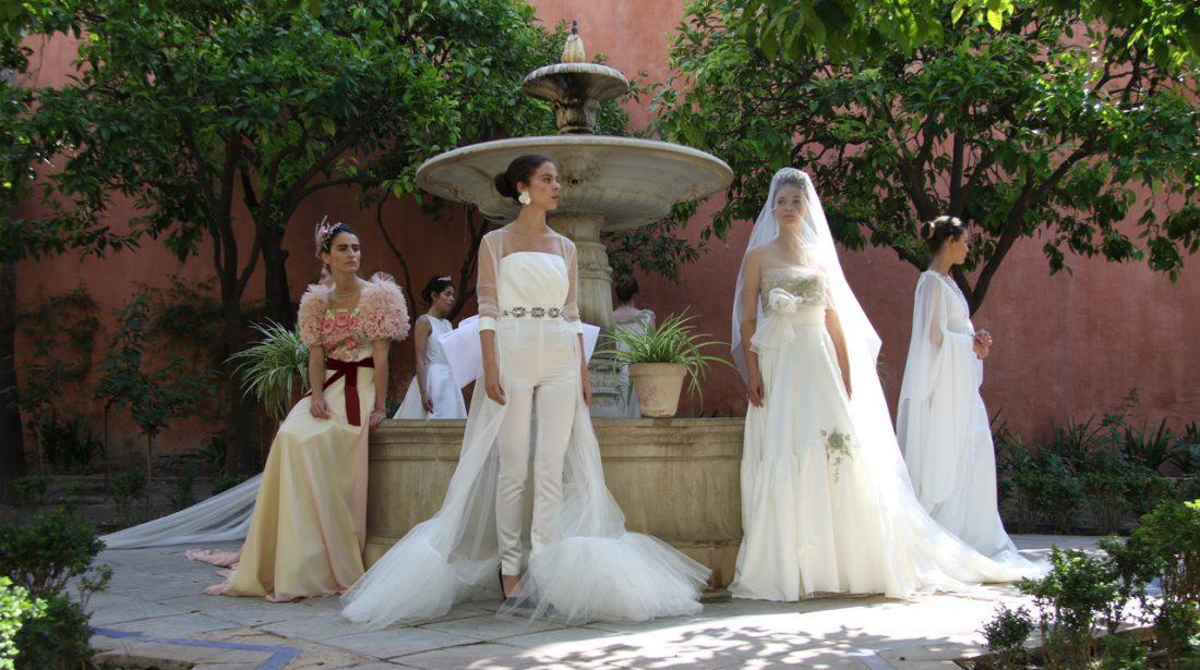 Patricia Bazarot presenta en el Alcázar su colección de novia e invitada 18/19
