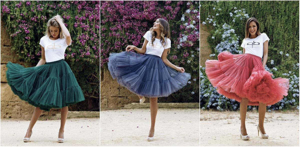 Faldas de tul modelo Carlota de Patricia Bazarot en diferentes colores