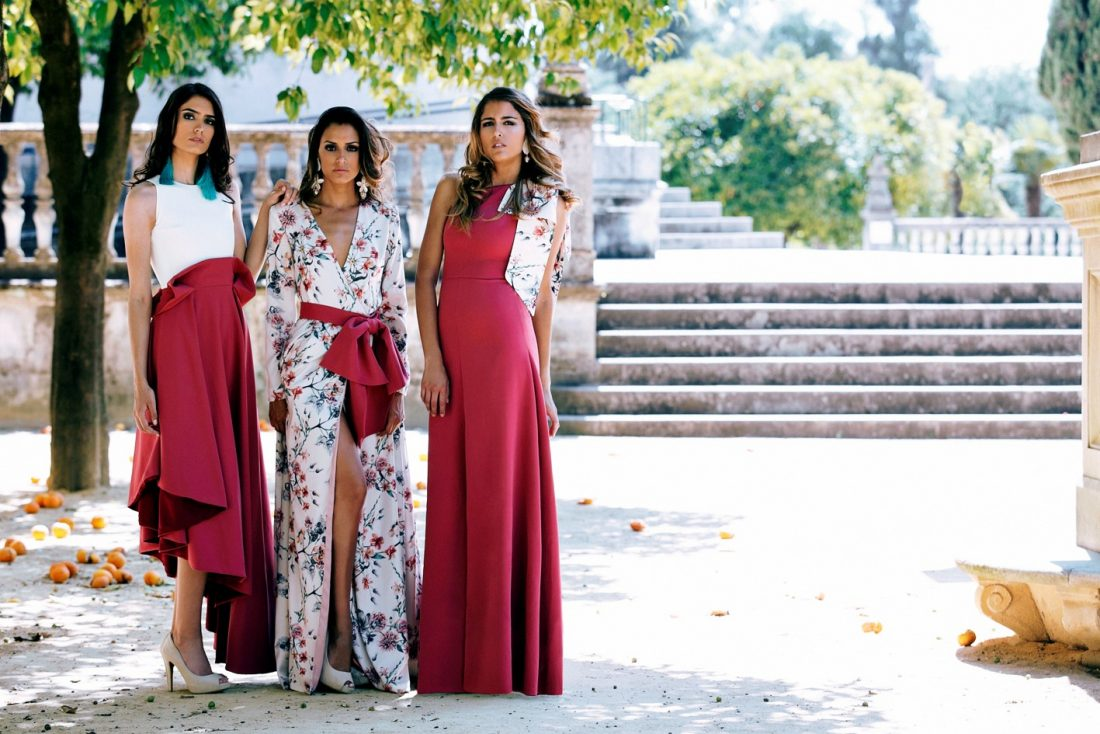 Vestido rojo hermana novia