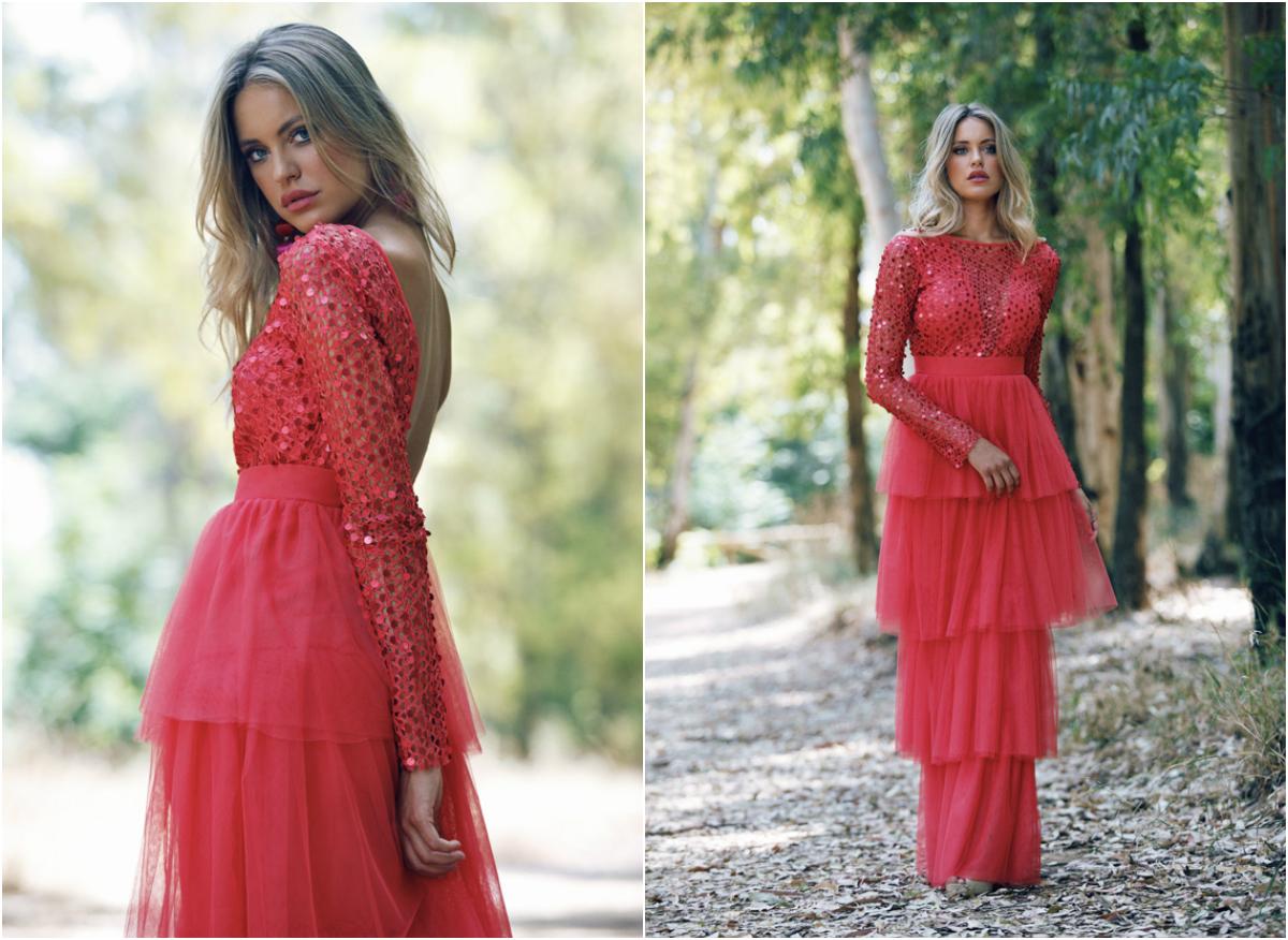 Vestido y falda de tul de Patricia Bazarot. Modelo Chiara