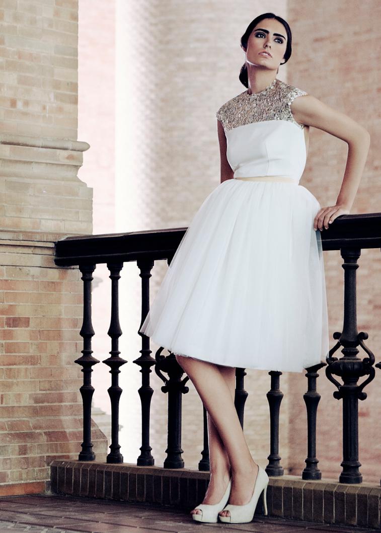 vestidos de novia cortos con sello Bazarot